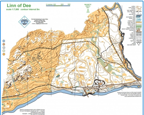 Linn of Dee Orienteering Map